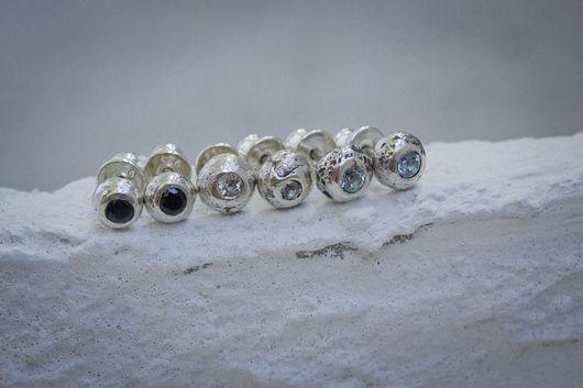 Серьги ручной работы. Ярмарка Мастеров - ручная работа. Купить Бору серьги. Handmade. Серебряный, серебро, натуральный камень