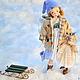 Коллекционные куклы ручной работы. Ярмарка Мастеров - ручная работа. Купить Авторская кукла Снежные сугробы. Handmade. Голубой, текстиль