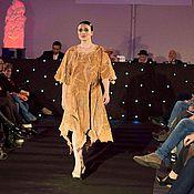 Одежда ручной работы. Ярмарка Мастеров - ручная работа Платье из шерсти Терракота стиль Бохо. Handmade.