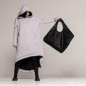 Сумка-шоппер ручной работы. Ярмарка Мастеров - ручная работа Большая женская сумка шоппер из экокожи Square. Handmade.