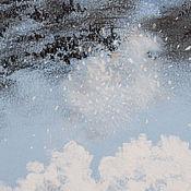 Картины и панно ручной работы. Ярмарка Мастеров - ручная работа СНЕЖНОЕ ОБЛАКО картиночка пастель. Handmade.