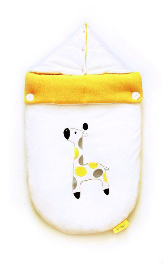 """Для новорожденных, ручной работы. Ярмарка Мастеров - ручная работа. Купить Конверт на выписку и для прогулок """"Утро жирафа"""". Handmade. Конверт"""