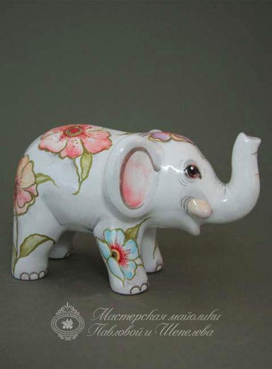 Персональные подарки ручной работы. Ярмарка Мастеров - ручная работа. Купить Слон. Handmade. Белый, слон, подарок на любой случай