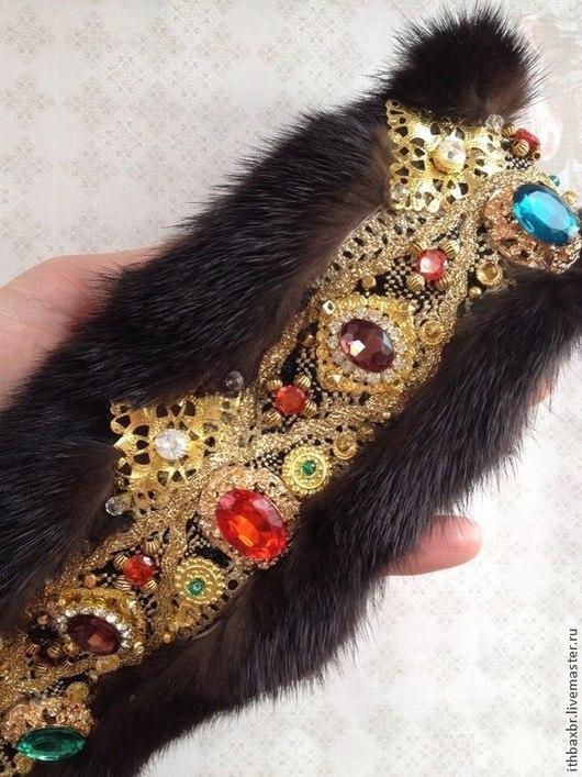 """Диадемы, обручи ручной работы. Ярмарка Мастеров - ручная работа. Купить Корона-повязка""""Sicilian  Queen """" в стиле DG. Handmade."""