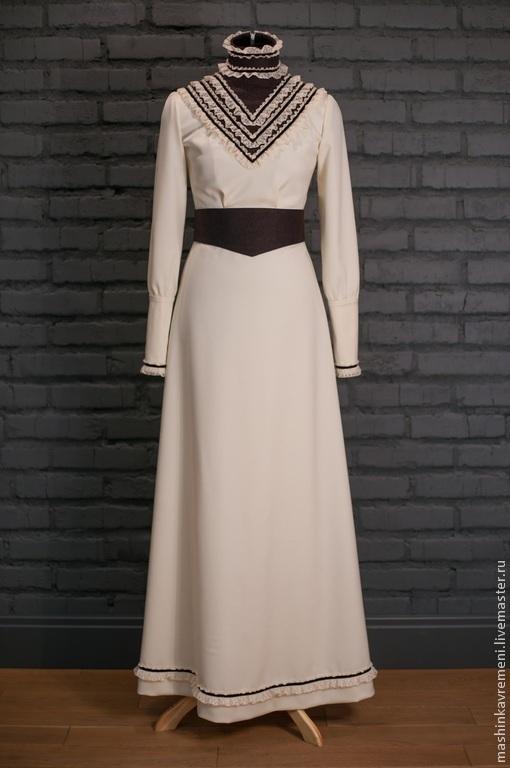 Одежда и аксессуары ручной работы. Ярмарка Мастеров - ручная работа. Купить Свадебное платье зимнее. Handmade. Однотонный, винтаж
