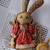 Куклы и игрушки ручной работы. Ярмарка Мастеров - ручная работа Зайка Ариша ( ангелочек). Handmade.