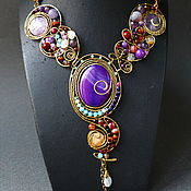 Украшения handmade. Livemaster - original item Necklace gravity (the version with oval stone). Handmade.