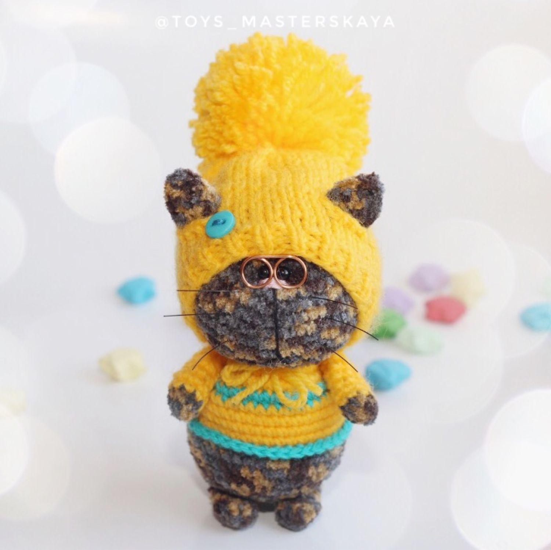Вязаный котик, Мягкие игрушки, Волгоград,  Фото №1