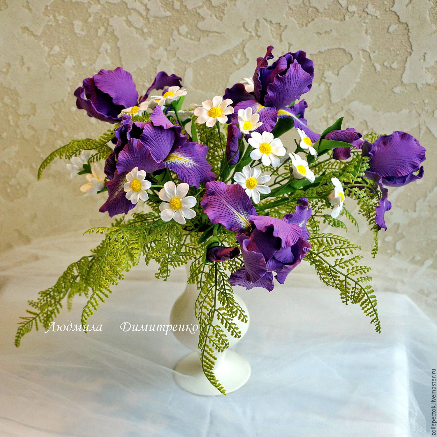 Bouquet Irises Daisies Shop Online On Livemaster With Shipping