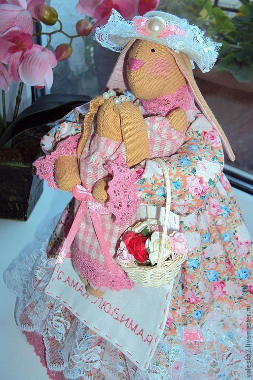 """Куклы Тильды ручной работы. Ярмарка Мастеров - ручная работа. Купить """"Самая любимая"""" - 3. Handmade. Зайка, подарок"""