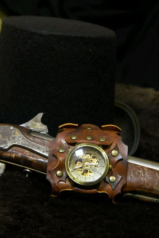 """Часы ручной работы. Ярмарка Мастеров - ручная работа. Купить часы наручные """" Стимпанк """". Handmade. Стимпанк"""
