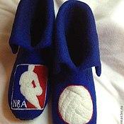 Обувь ручной работы. Ярмарка Мастеров - ручная работа Тапочки мужские NBA. Handmade.