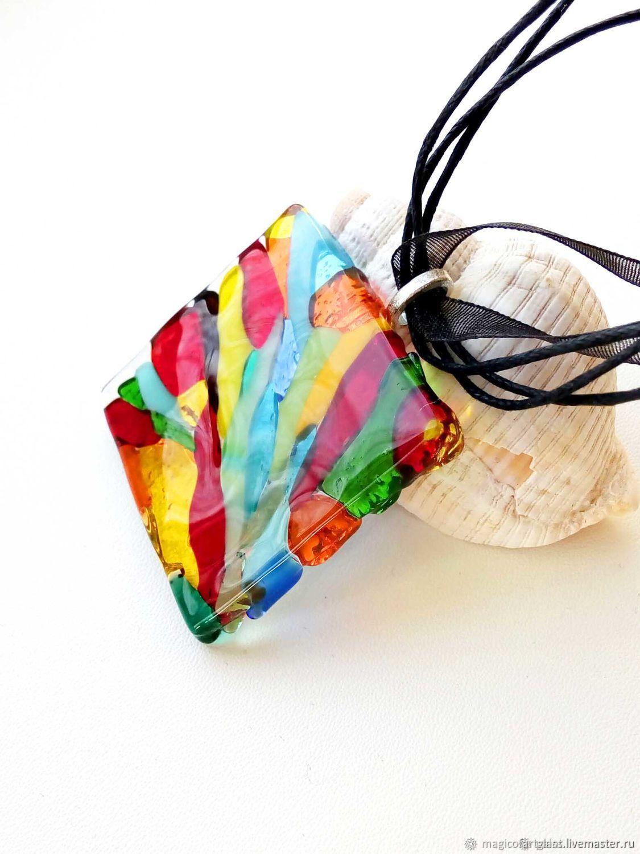 Glass pendant Venice, fusing pendant, fusing jewelry, Pendants, Khabarovsk,  Фото №1