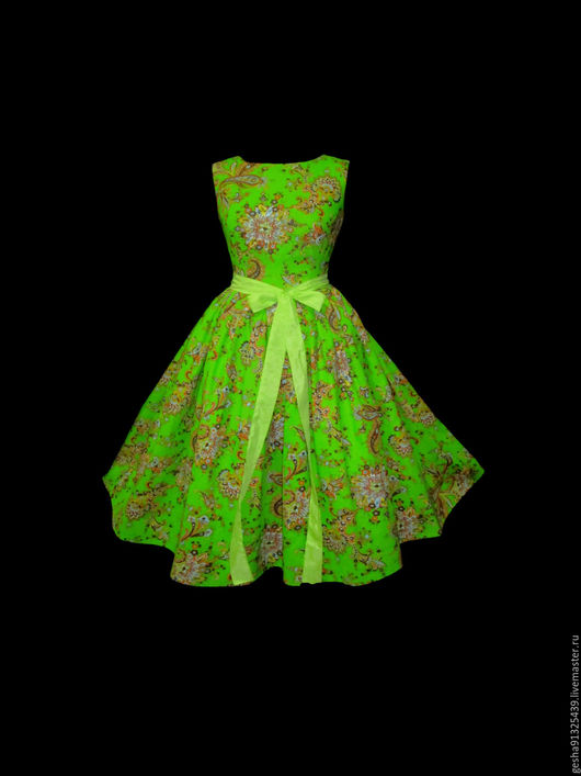 """Платья ручной работы. Ярмарка Мастеров - ручная работа. Купить .Платье """"Цветок мэхэнди"""" миди. Handmade. Салатовый, красивое платье"""