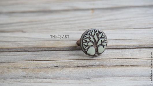 """Кольца ручной работы. Ярмарка Мастеров - ручная работа. Купить Кольцо """"Древо жизни"""". Handmade. Круглое кольцо колечко"""