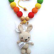 Одежда ручной работы. Ярмарка Мастеров - ручная работа Слингобусы Цветные нотки и зайка. Handmade.