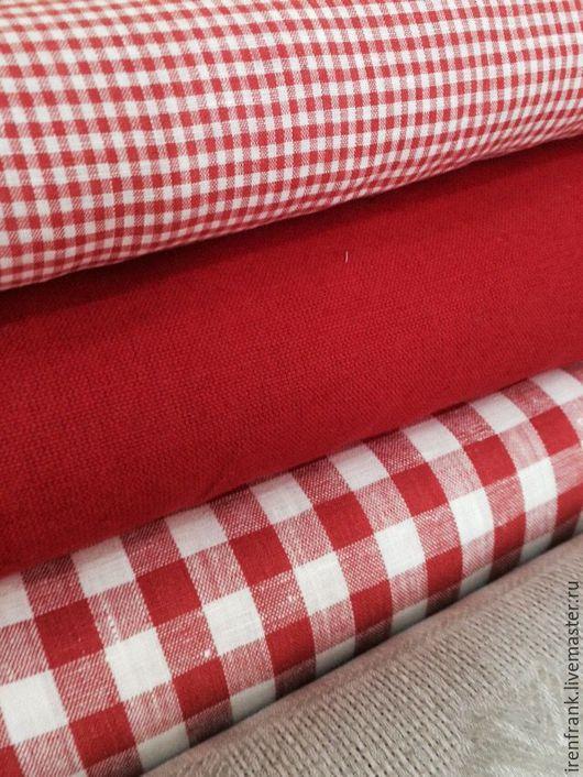 Текстиль, ковры ручной работы. Ярмарка Мастеров - ручная работа. Купить Лен новогодние цвета. Handmade. Лен, хлопок