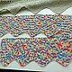 Винтажные предметы интерьера. Ярмарка Мастеров - ручная работа. Купить Подзоры  2 шт  Меланж. Handmade. Разноцветный, сетка, ламбрекен