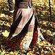 """Юбки ручной работы. Заказать Теплая юба """"Шорох листьев"""". Маша Одуванка. Ярмарка Мастеров. Теплая юбка, женственная юбка"""