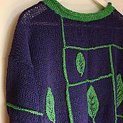 """Одежда ручной работы. Ярмарка Мастеров - ручная работа Джемпер """"Зеленый лист"""". Handmade."""