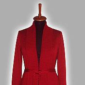 Одежда ручной работы. Ярмарка Мастеров - ручная работа Красный кардиган. Handmade.