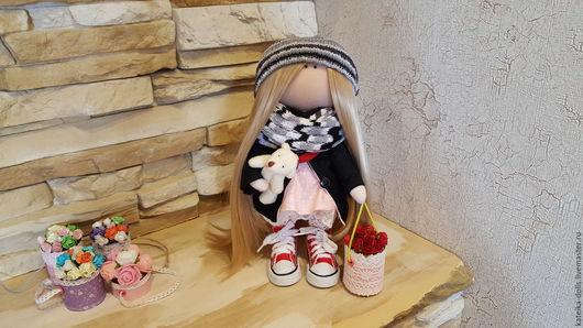 Куклы тыквоголовки ручной работы. Ярмарка Мастеров - ручная работа. Купить Портретная куколка. Handmade. Бежевый, кукла ручной работы