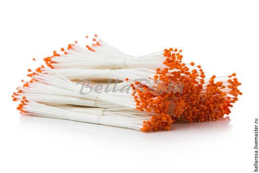 Материалы для флористики ручной работы. Ярмарка Мастеров - ручная работа. Купить Тычинки оранжевые. Handmade. Оранжевый, тычинки, тычинки для цветов