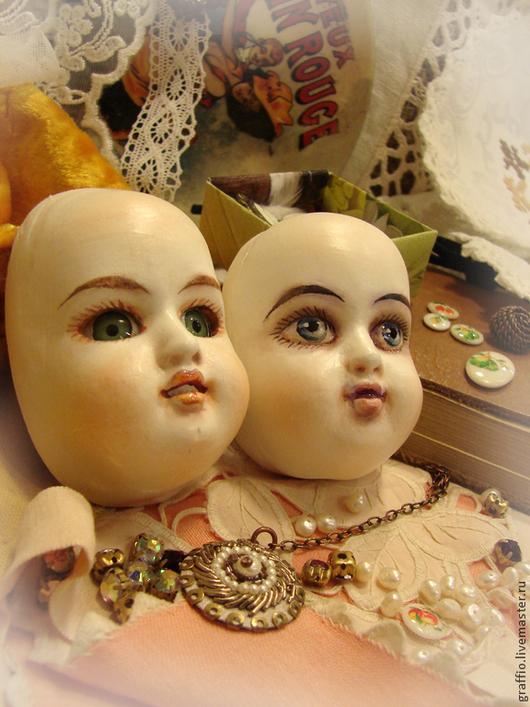 Куклы и игрушки ручной работы. Ярмарка Мастеров - ручная работа. Купить № 8 личики для тедди-долл. Handmade.