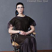 Одежда handmade. Livemaster - original item Handmade Felted dress Bistre. Handmade.