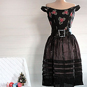 Одежда handmade. Livemaster - original item Cocktail dress the Plot of 1852. Handmade.