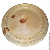 Материалы для творчества handmade. Livemaster - original item Plate for painting 27 cm. Siberian Cedar Blank for painting T3. Handmade.