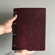Канцелярские товары handmade. Livemaster - original item A4 leather name book on rings. Handmade.