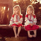 Народные рубахи ручной работы. Ярмарка Мастеров - ручная работа Детское русское платье. Handmade.