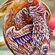 Кулоны, подвески ручной работы. ...Огненная птица...кулон. Алёна Царевская. Ярмарка Мастеров. Птица феникс, фурнитура