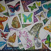 Батик панно «Коллекция бабочек» на шелке