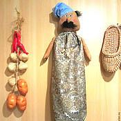 """Для дома и интерьера ручной работы. Ярмарка Мастеров - ручная работа Пакетница """"Сеньор повар""""). Handmade."""