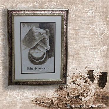Картины и панно ручной работы. Ярмарка Мастеров - ручная работа Вышивка крестом Свадебная метрика. Handmade.
