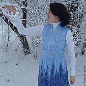 """Одежда ручной работы. Ярмарка Мастеров - ручная работа Валяное платье """"Изморозь"""". Handmade."""