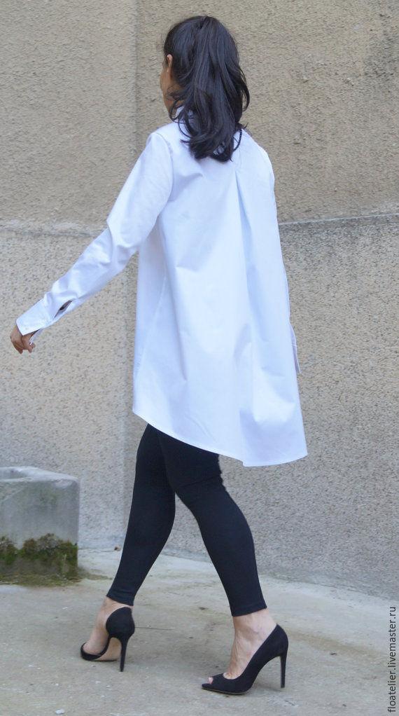 Рубашка блузка белая купить в интернет магазине