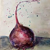 handmade. Livemaster - original item Picture Of Vegetables With Beets In The Kitchen. Handmade.
