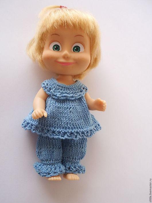 Одежда для кукол ручной работы. Ярмарка Мастеров - ручная работа. Купить Пижамка на куколку 11-12 см. Handmade. голубой