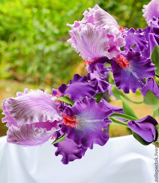 """Цветы ручной работы. Ярмарка Мастеров - ручная работа. Купить Цветок ириса """"Магия"""". Handmade. Ирисы, цветок, цветы в подарок"""