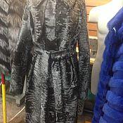 Одежда ручной работы. Ярмарка Мастеров - ручная работа Пальто из серебряной каракульчи. Handmade.