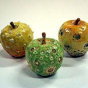 Подарки к праздникам ручной работы. Ярмарка Мастеров - ручная работа яблочки. Handmade.