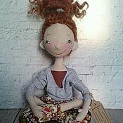 Куклы и игрушки ручной работы. Ярмарка Мастеров - ручная работа Интерьерная текстильная кукла любительница йоги. Handmade.
