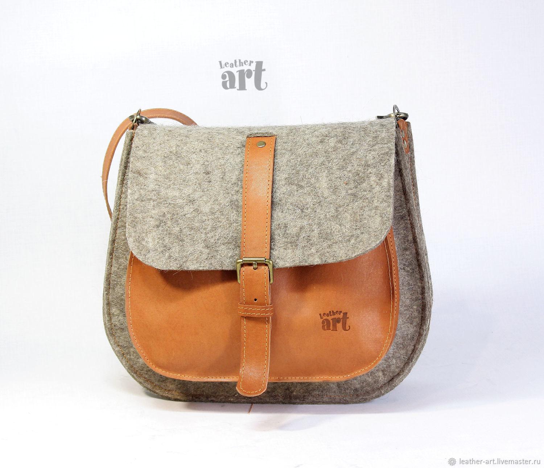8fd4db63d49c Handbags handmade. Livemaster - handmade. Buy Women s Boho felt-leather bag.
