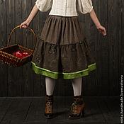 """Одежда ручной работы. Ярмарка Мастеров - ручная работа Юбка в бохо-стиле """"Зелёный чай"""". Handmade."""