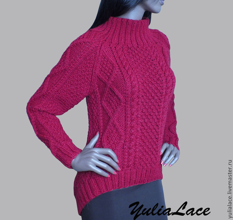Как вязать свитер с низу