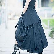 Одежда ручной работы. Ярмарка Мастеров - ручная работа Черная юбка из льна. Handmade.