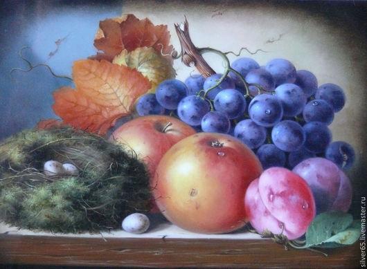 Натюрморт ручной работы. Ярмарка Мастеров - ручная работа. Купить натюрморт с фруктами. Handmade. Масляная живопись, панно, масляные краски